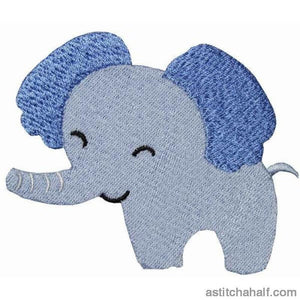 Jolly Jungle Elephant And Bib Applique