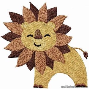 Jolly Jungle Lion and Bib - a-stitch-a-half