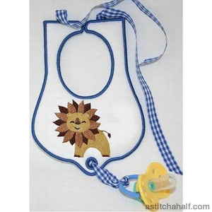 Jolly Jungle Lion And Bib Applique