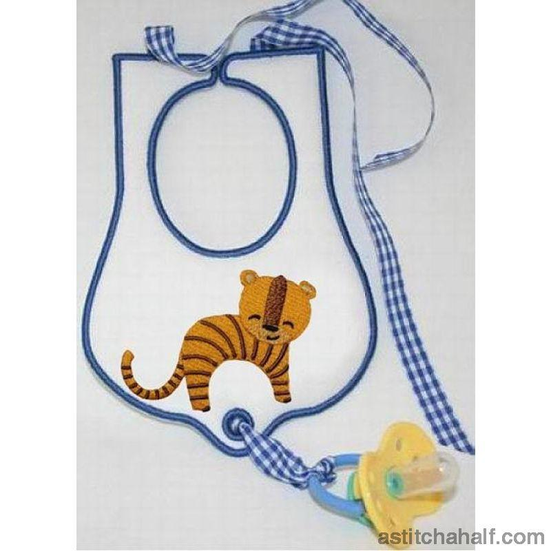 Jolly Jungle Tiger And Bib Applique