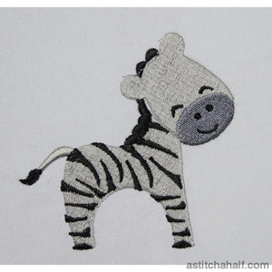 Jolly Jungle Zebra and Bib - a-stitch-a-half