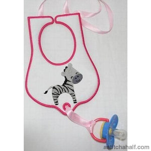 Jolly Jungle Zebra And Bib Applique