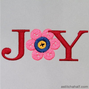 Joy button - a-stitch-a-half