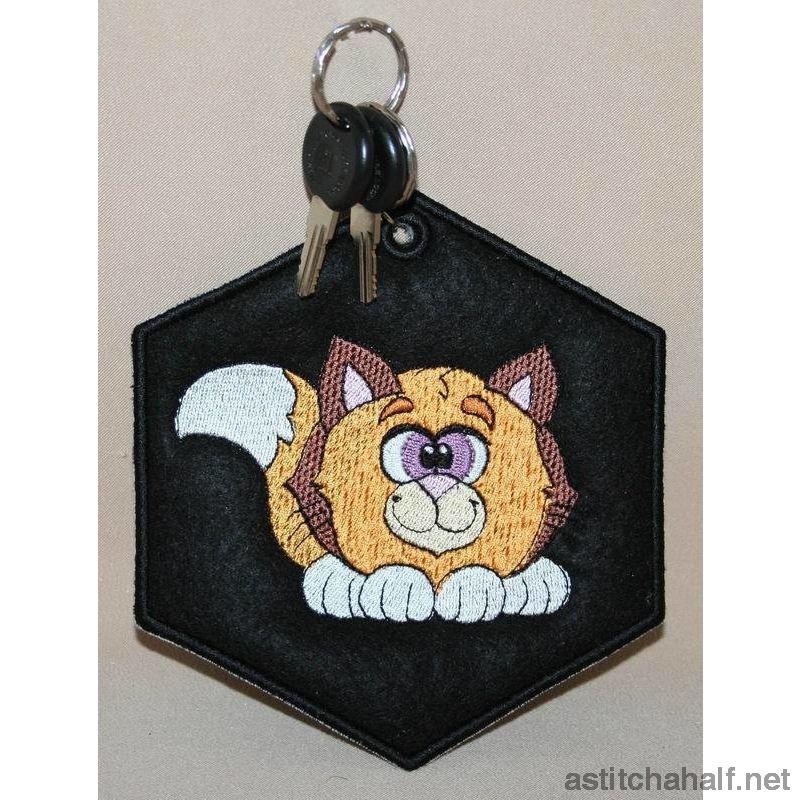 Jungle Key Tag Combo - a-stitch-a-half