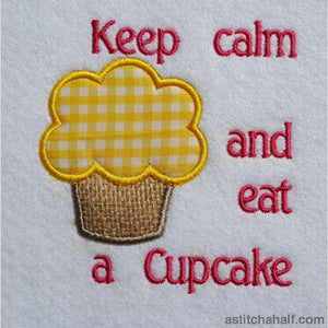 Keep Calm and Eat a Cupcake - a-stitch-a-half