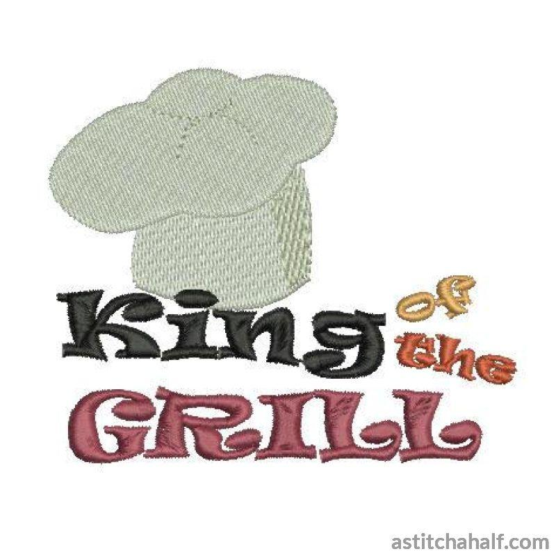 King Of The Grill Embroidery Fill