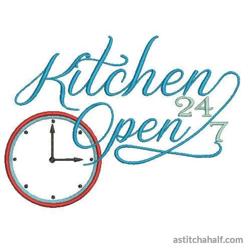 Kitchen Open Embroidery Fill