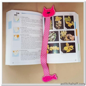 Kitty Bookmark - a-stitch-a-half