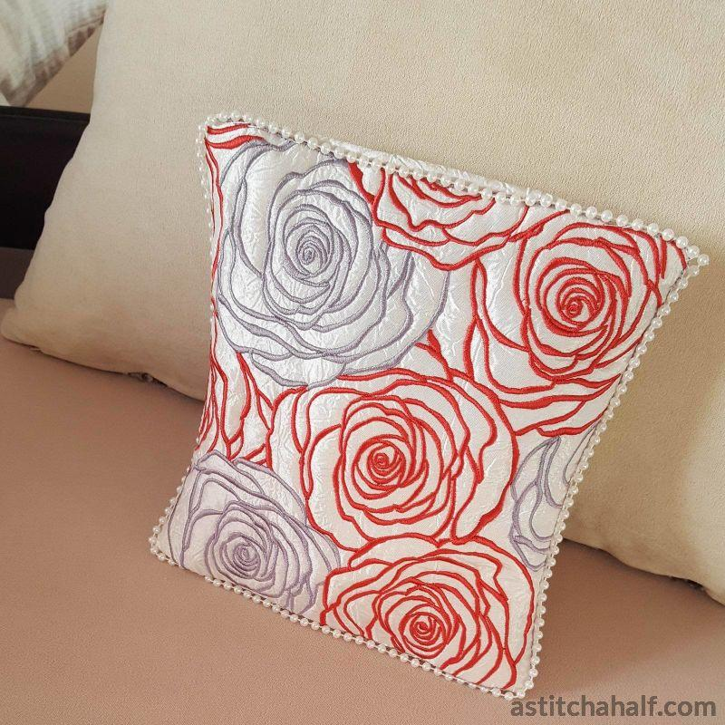 Lady in Roses Pillow Quilt - a-stitch-a-half