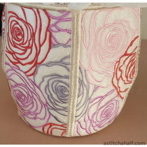 Lady Roses Basket - a-stitch-a-half