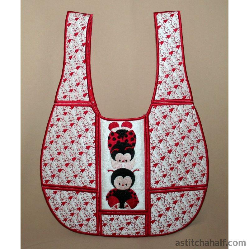 Ladybug Lazy Bag Applique