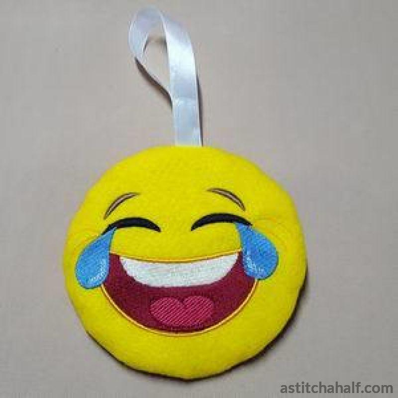 Laugh Out Loud Emoji Ith Zipper Bag All In The Hoop