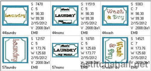 Laundry Tags For Mom Applique