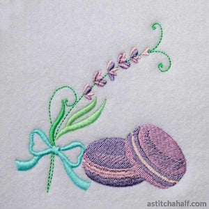 Lavender Macaroons Embroidery Fill