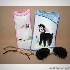 Little Lamb Eyeglass Cases - aStitch aHalf