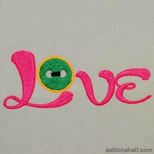 Love Button Embroidery Fill