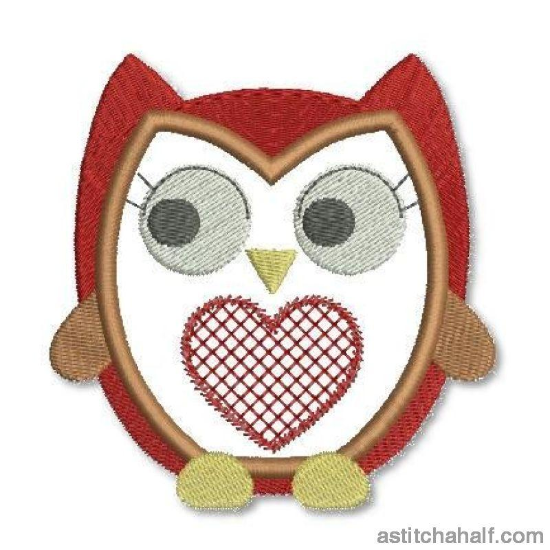 Love Owl Embroidery Fill