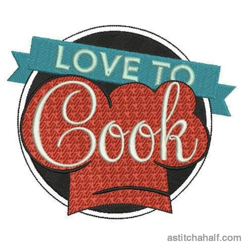 Love to Cook - a-stitch-a-half