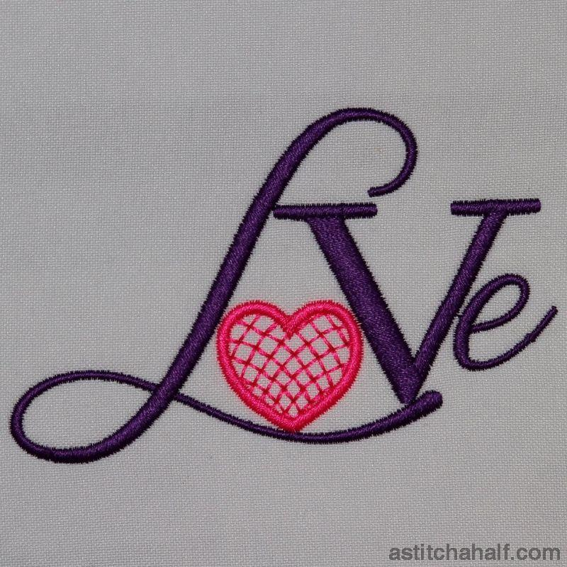 Love with lace heart - a-stitch-a-half