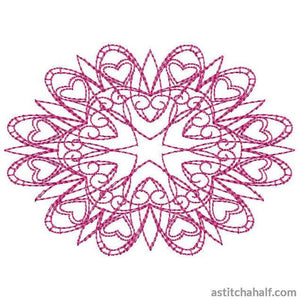Lovely Snowflake 10 Running Stitch