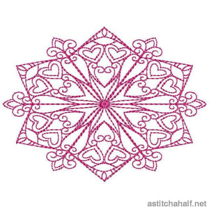 Lovely Snowflakes With Mylar Combo Running Stitch