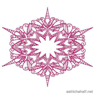 Lovely Snowflakes with Mylar Combo - a-stitch-a-half