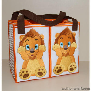 Lubaya the Lion Tote Bag - a-stitch-a-half
