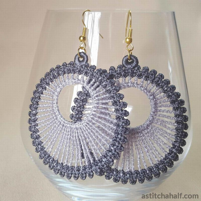 Lunar Freestanding Lace Earrings - a-stitch-a-half