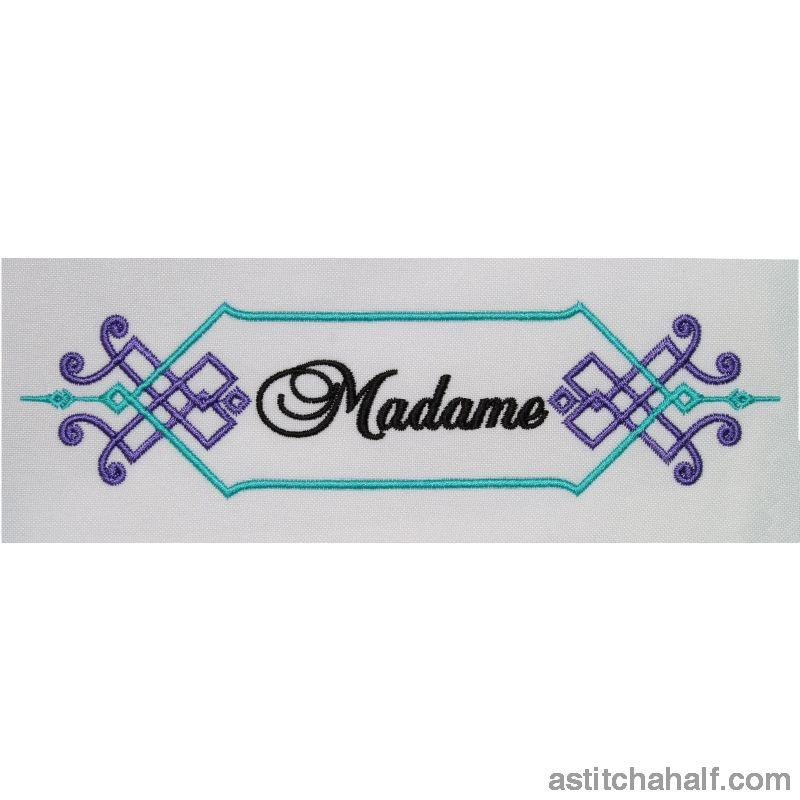 Madame Monogram - a-stitch-a-half