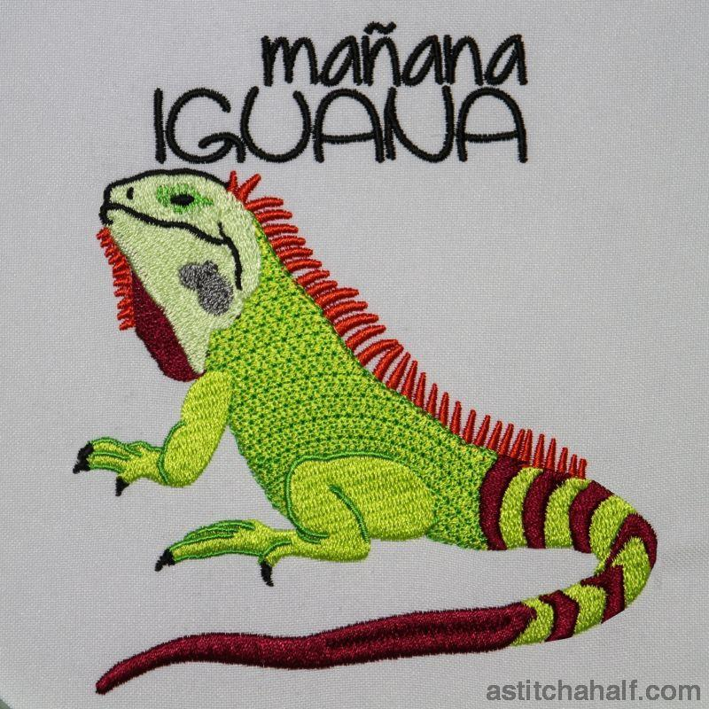 Mañana Iguana Embroidery Fill