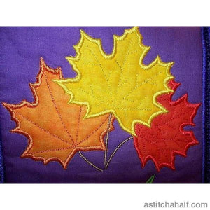 Maple Leaf Trio Applique