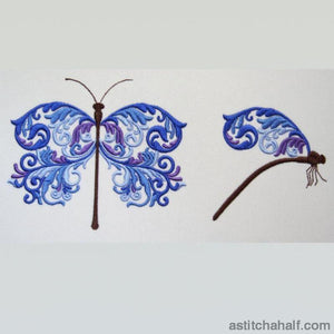Marine Dragonfly Embroidery Fill