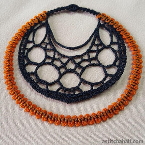 Marvelous Web Freestanding Lace Earrings - a-stitch-a-half