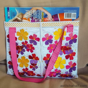 May Flowers Tote - a-stitch-a-half