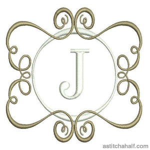 Memoirs Monogram J Embroidery Fill