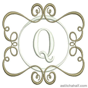 Memoirs Monogram Q Embroidery Fill