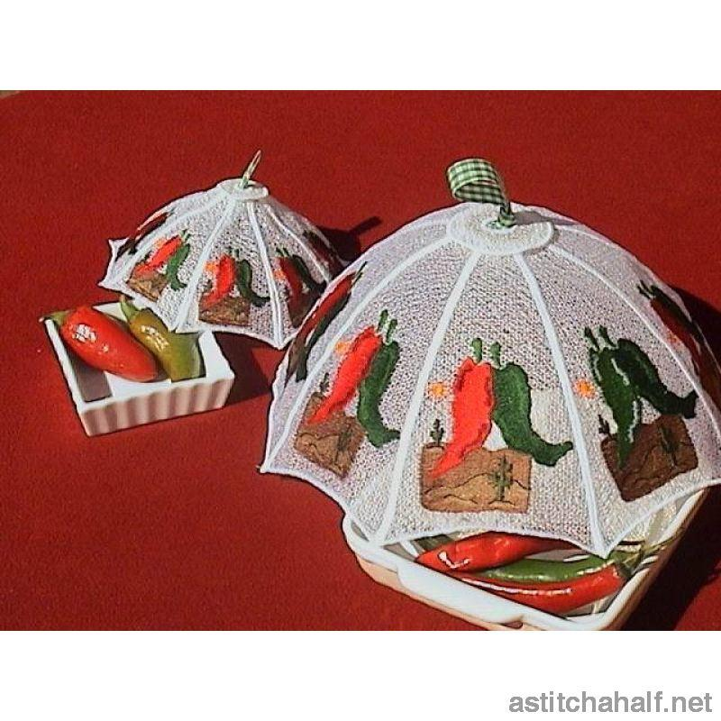 Mexican Chili Peppers Food Tent Freestanding Lace