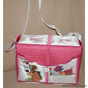 Miss Bonnet Tote Bag 03 Applique