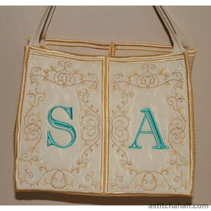 Monogram Tote Bag - a-stitch-a-half