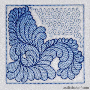 Most Popular Feathers Quilt Block Embroidery Fill