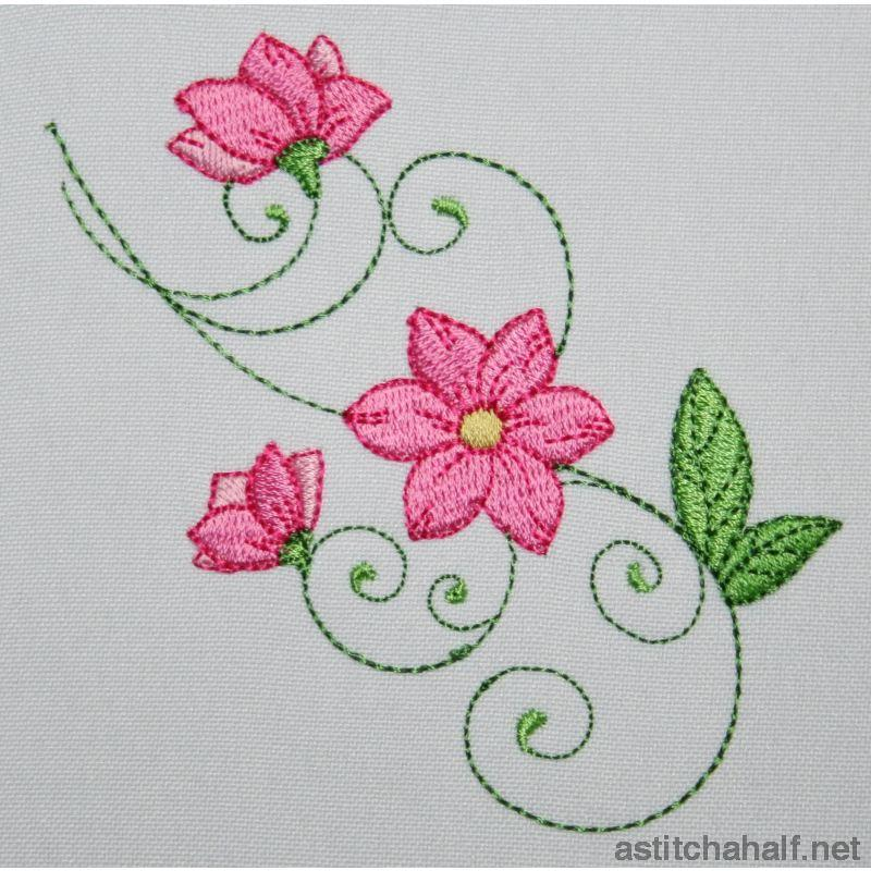 Most Popular Flowers Combo Embroidery Fill