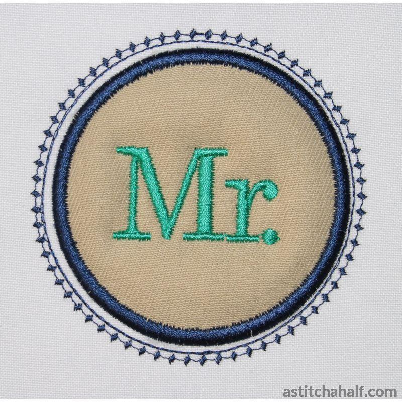 Mr In Embroidery Applique