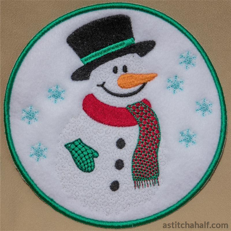 Mr Snowman Mug Rug All In The Hoop