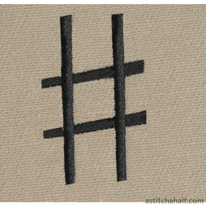 Music Notes Combo Applique