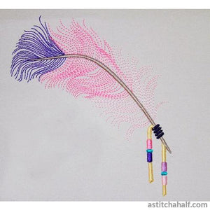 Native American Beaded Feather - a-stitch-a-half