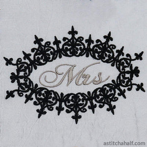 Nottingham Filigree Mr and Mrs - a-stitch-a-half