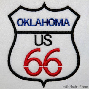 Oklahoma Route 66 Embroidery Fill