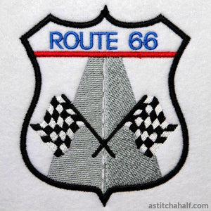 On The Road Route 66 Embroidery Fill