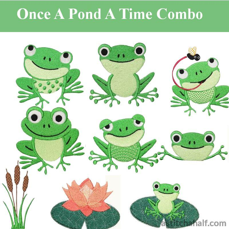 Once A Pond Time Combo Embroidery Fill