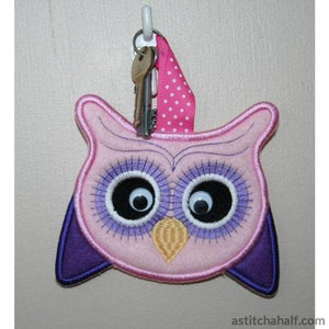 Oprah Owl Key Tag or Patch - a-stitch-a-half
